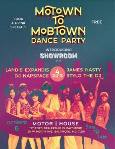 Motown to Mobtown Dance Party