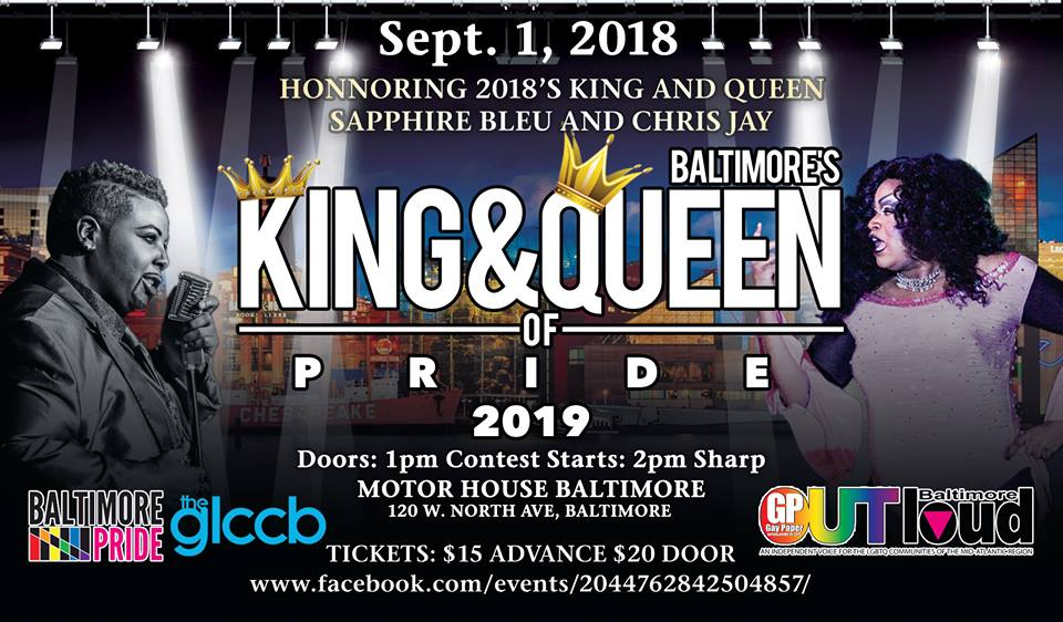2019 Baltimore King & Queen of Pride Contests