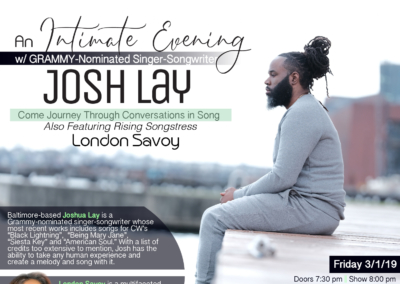 An Intimate Evening with Grammy-Nominated Josh Lay