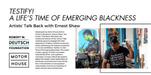 Artists' Talk Back with Ernest Shaw