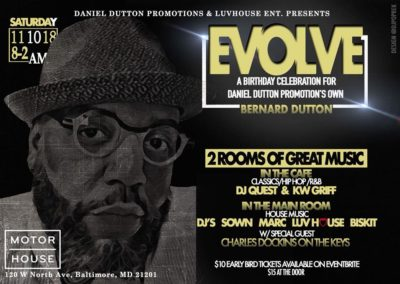 EVOLVE: Birthday Celebration for Bernard Dutton