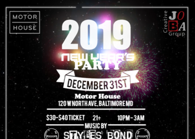 Motor House New Year's Eve Party with JOBA Creative Group