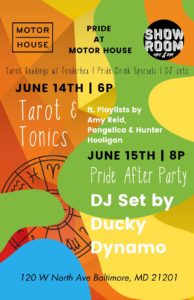 Pride After Party at Motor House w/ DJ Ducky Dynamo