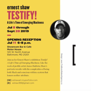 TESTIFY! A Life's Time of Emerging Blackness w/ Ernest Shaw 1