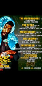 "The ""420"" BALTIMORE HIP HOP BAR CRAWL @ STATION NORTH"