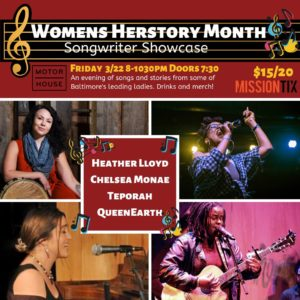 Womens History Month: Songwriter Showcase